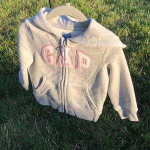Gap hooded zip sweatshirt
